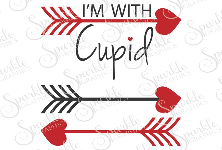 I'm With Cupid File Set | SVG, EPS, DXF, PNG example image 1