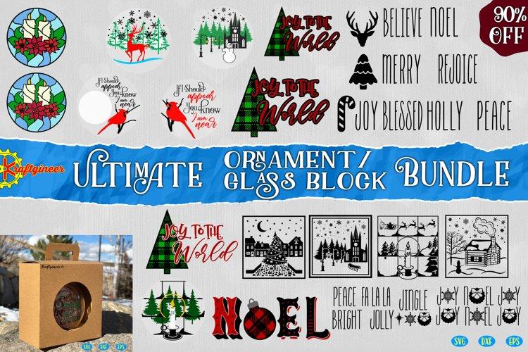 Christmas Ornament Christmas Glass Block Bundle example image 1