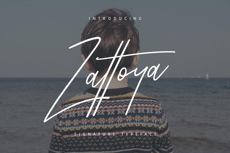 Zattoya Typeface example image 1