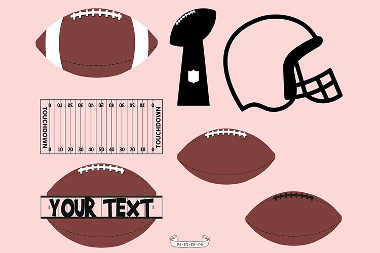 Football SVG, Football Frame,football,ball,america example image 1