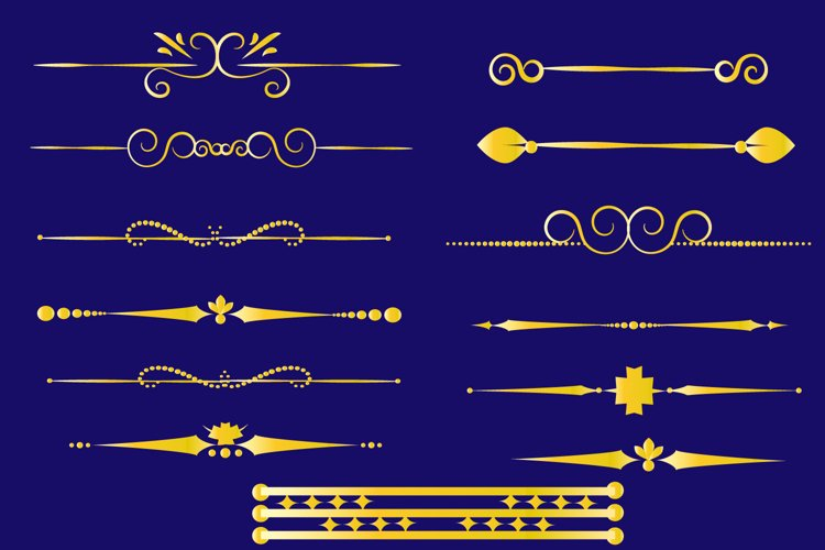 Set of Golden dividers . example image 1