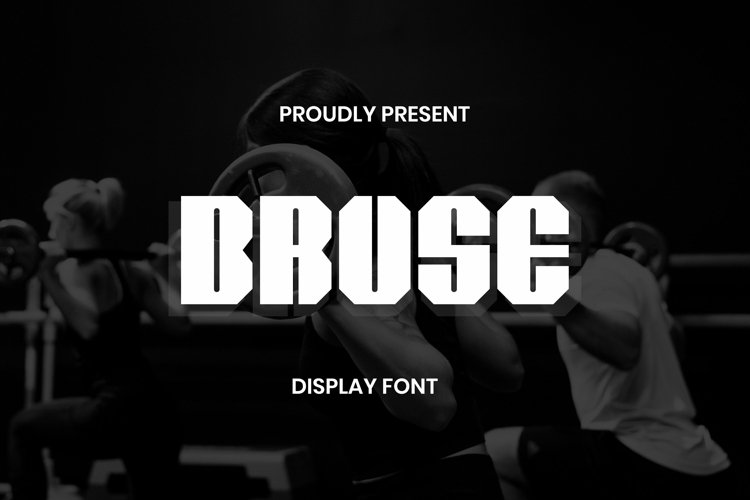 Web Font Bruse Display Font example image 1