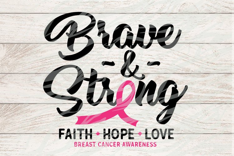 Brave & Strong Breast Cancer Awareness example image 1