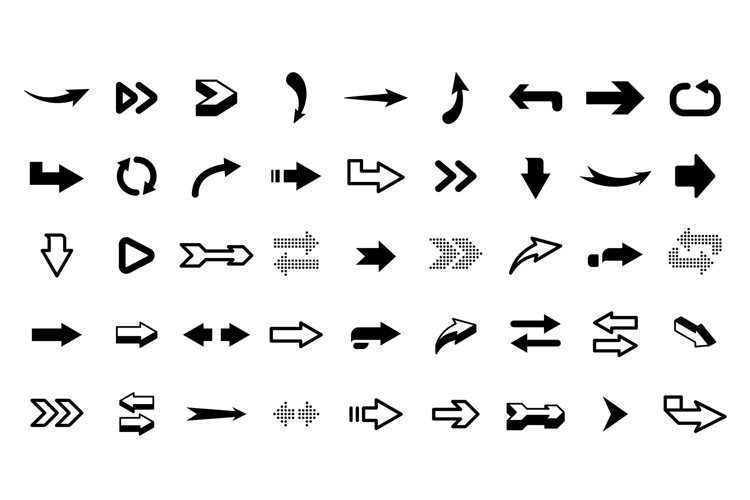 Graphic arrows. Modern interface graphic icons, arrowhead co example image 1