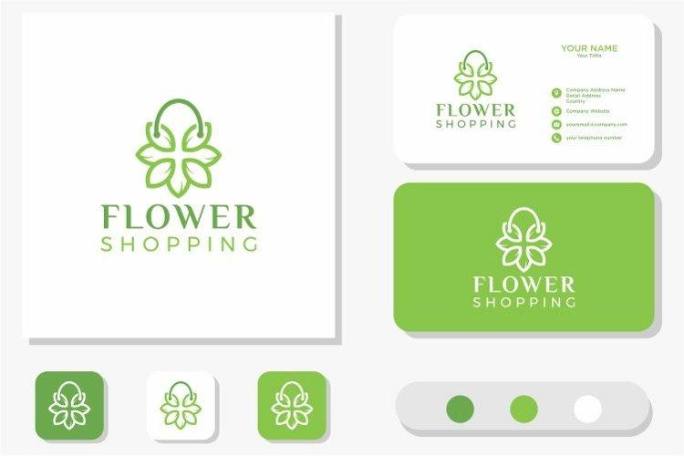 Leaf and Bag Logo Design and Business Card