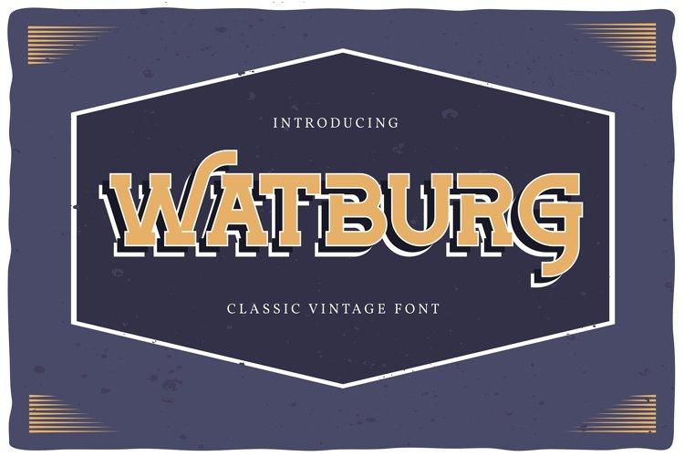 Watburg | Classic Vintage Font