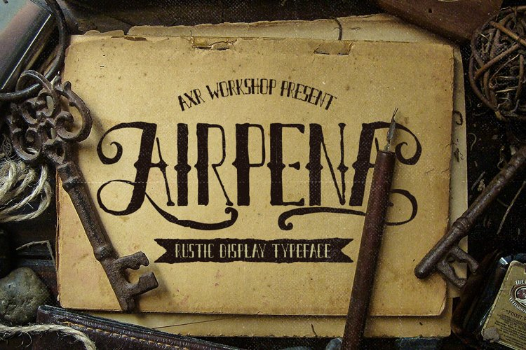 Airpena Rustic Font example image 1