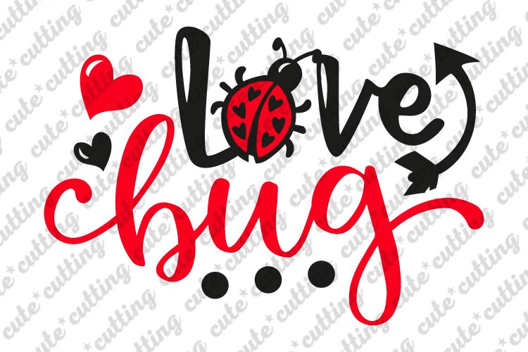 Valentines day svg, Love bug svg, Lady bug svg example image 1