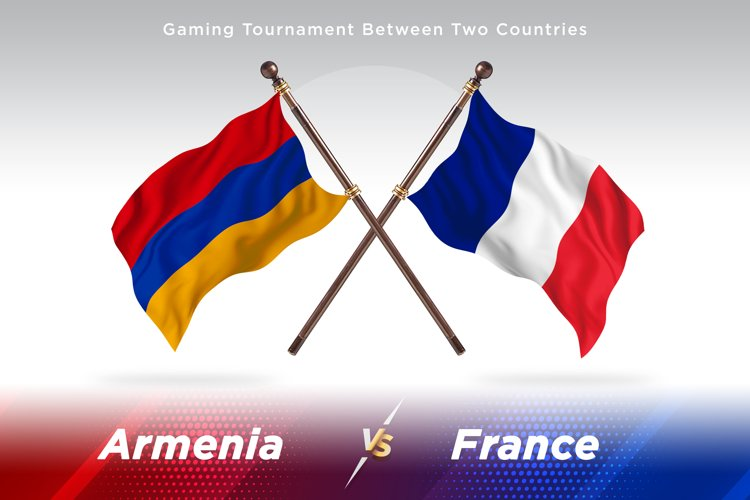 Armenia vs France Two Flags example image 1