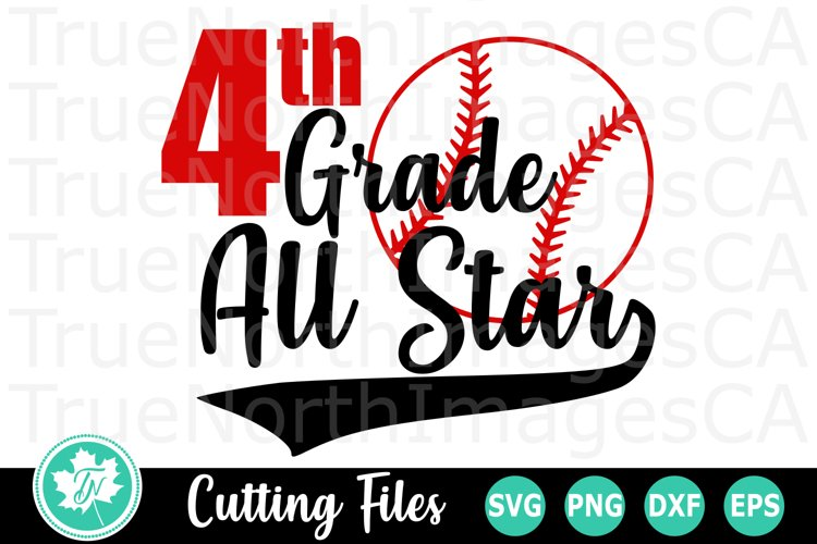 4th Grade All Star - A School SVG Cut File example image 1