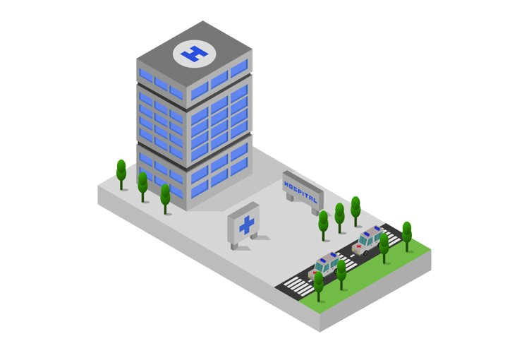 isometric hospital example image 1