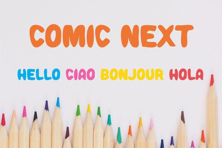 Comic Next Font example image 1
