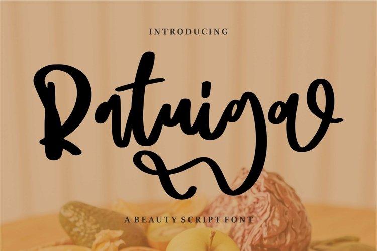 Web Font Ratuiga - A Beauty Script Font example image 1