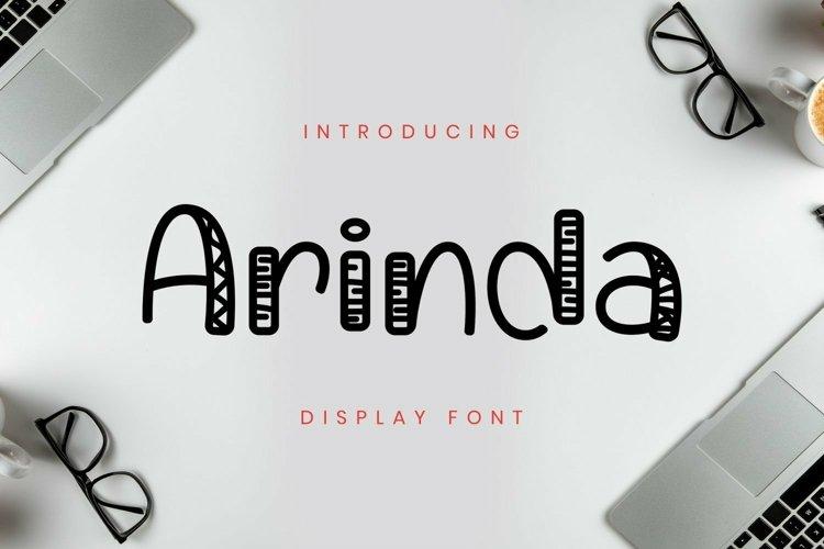 Web Font Arinda Font example image 1
