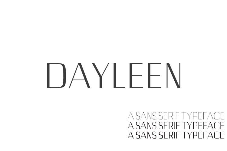 Dayleen Sans Serif Font Family example image 1