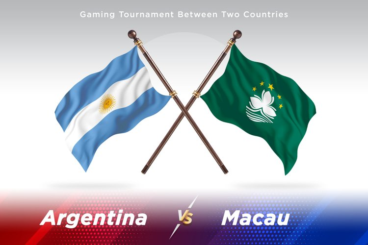 Argentina vs Macau Two Flags example image 1
