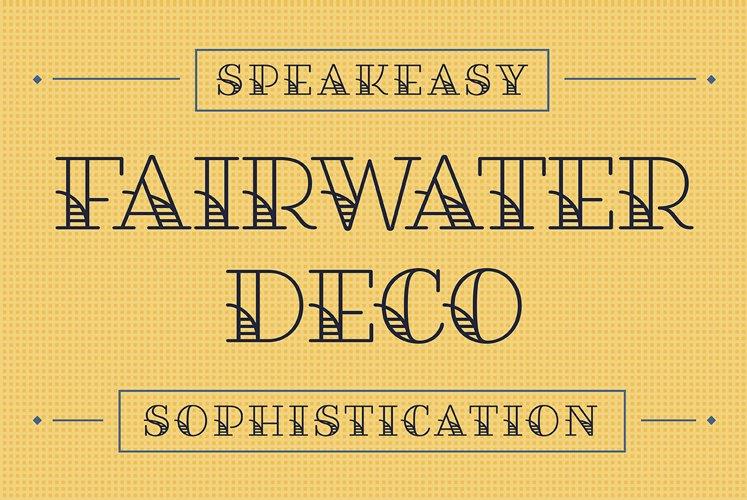 Fairwater Deco Serif example image 1