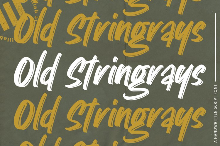 Old Stringrays - A Handwritten Font example image 1