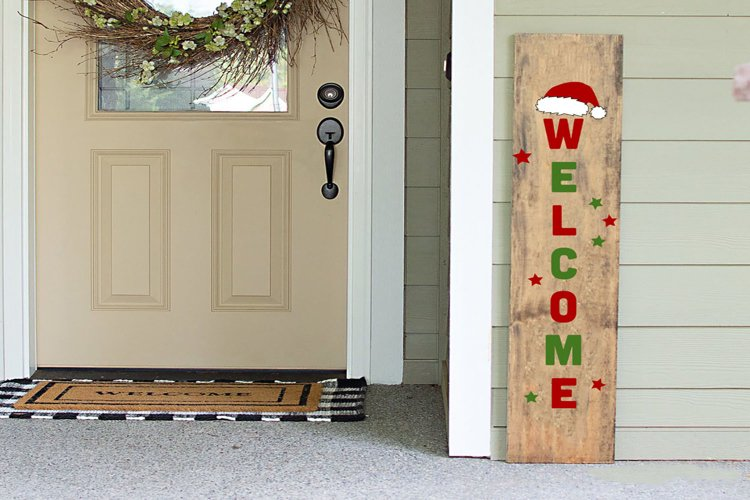 Christmas Porch Sign Svg, Welcome Sign Svg, Porch Sign Svg example image 1