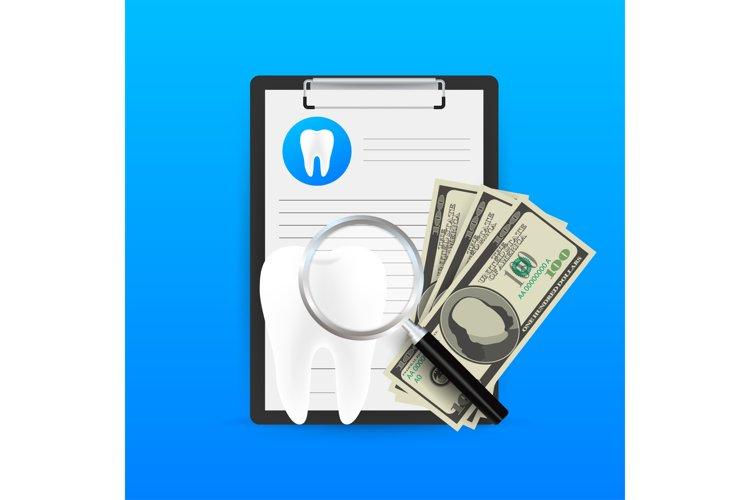 Dental care concept. Medical clipboard. Dental insurance. example image 1