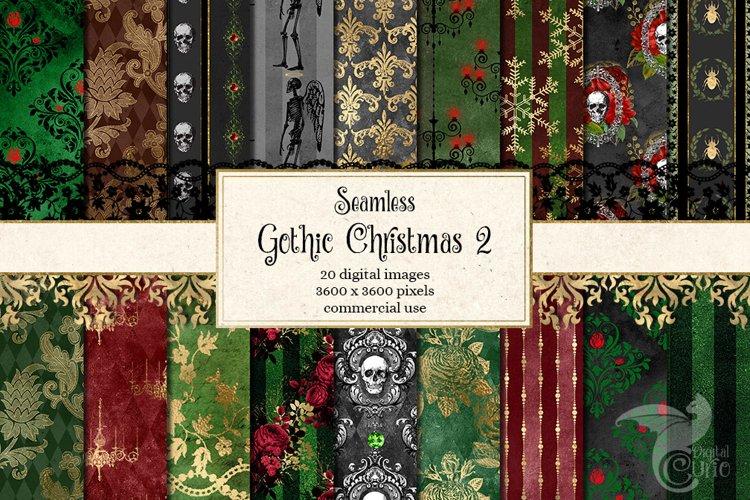 Gothic Christmas Digital Paper Set 2