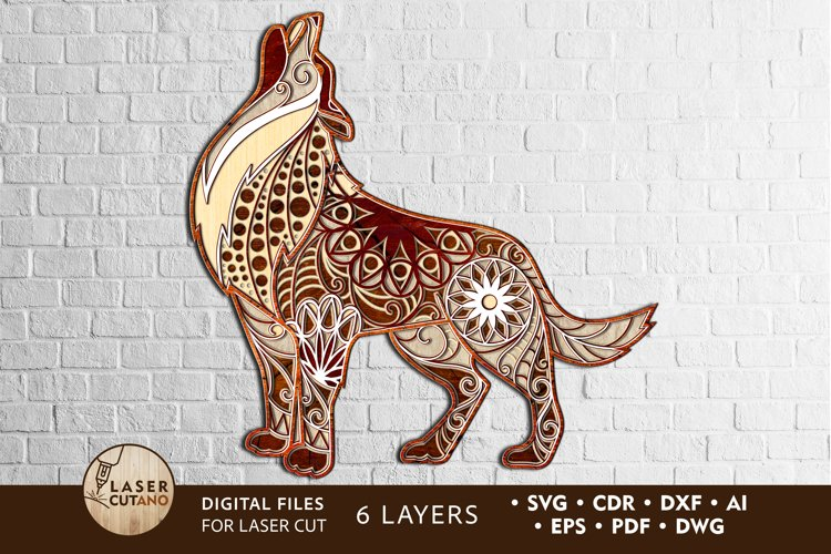 Multilayer Cut File WOLF for Laser Cut, Cricut, CNC Machines