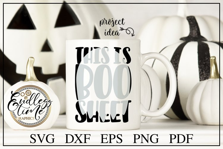 This is Boo Sheet - a Funny Halloween Knockout SVG Cut File