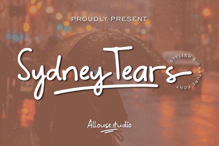 Sydney Tears - Stylish Signature Font example image 1