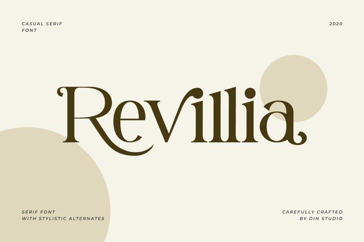 Revillia-Casual Serif Font example image 1
