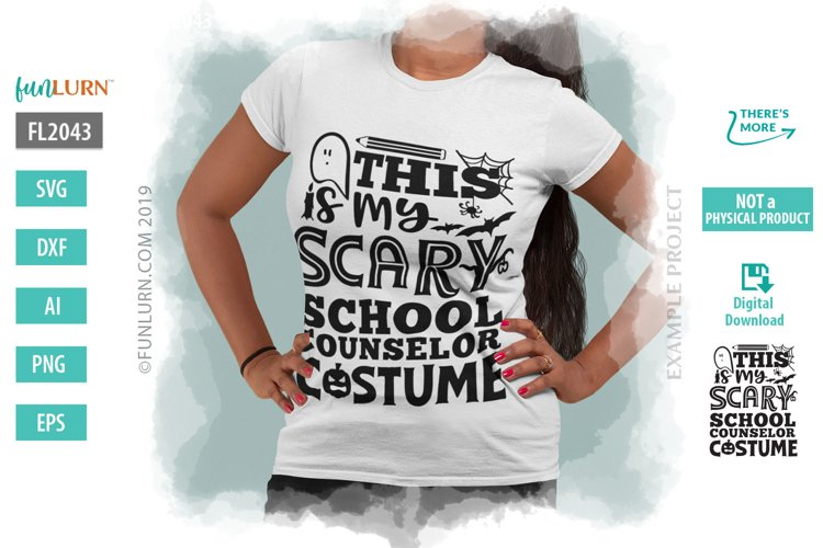 This is My Scary School Counselor Costume SVG Cut File example image 1