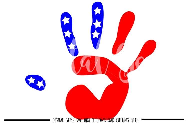 American Flag Hand Print SVG / PNG / EPS / DXF files