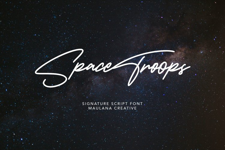 Spacetroops Signature Font example image 1