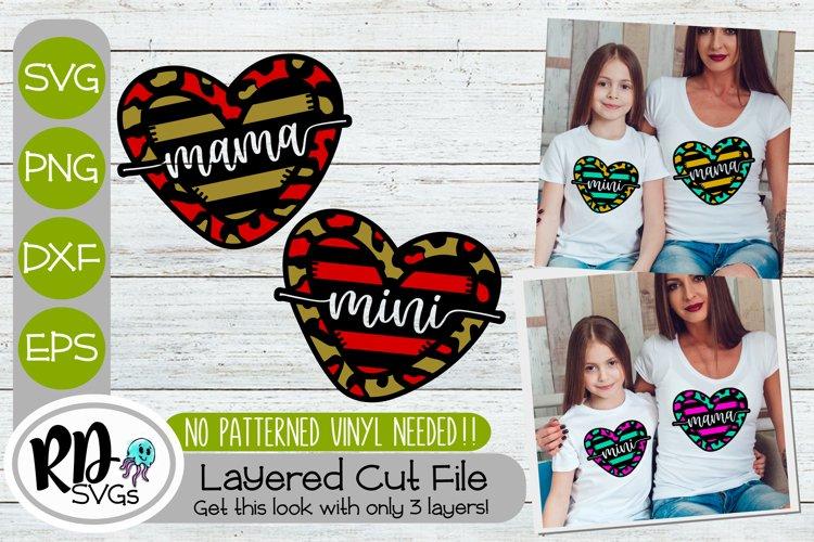 Mama Mini Hearts - A Matching Layered Cricut SVG