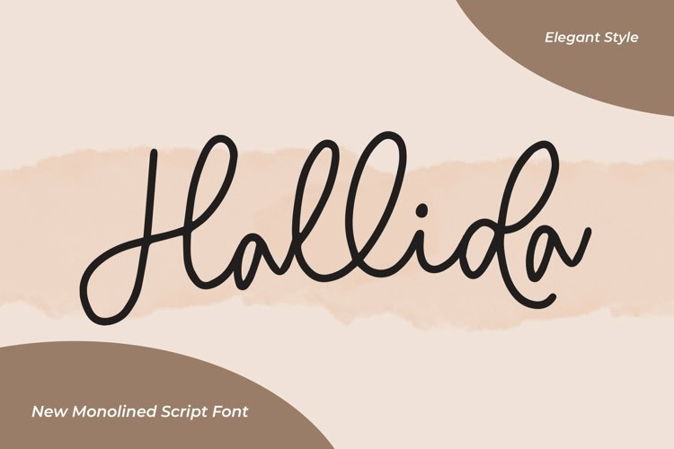 Web Font Hallida - Script Monoline Fonts example image 1