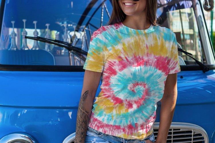 Summer Tie-Dye Seamless Pattern JPG/PNG 4000x4000px