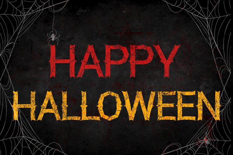 Halloween Monster Font example image 1
