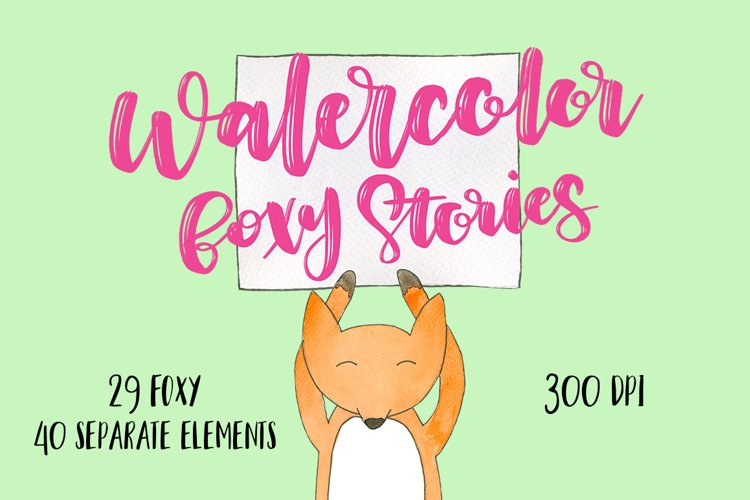Watercolor foxy stories example image 1