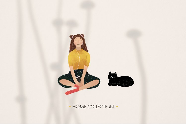 Autumn hand drawn home collection