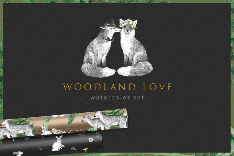 WOODLAND LOVE watercolor set