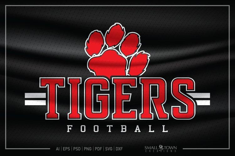 Tiger SVG, Football SVG, Tiger Football, Football, Team example image 1