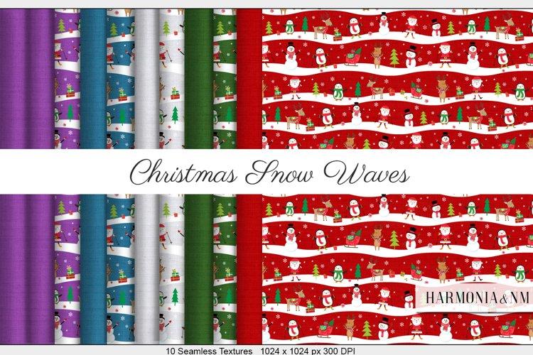 Christmas Snow Waves 10 Seamless Textures example image 1