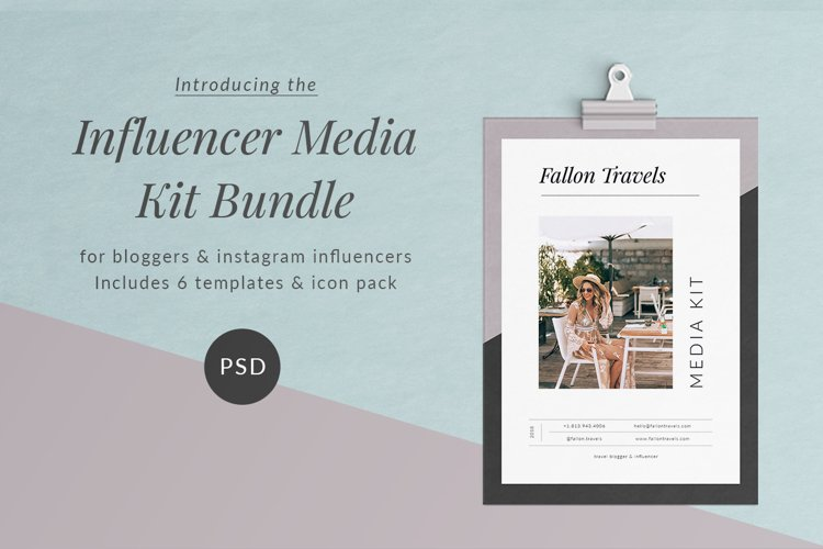 Influencer Media Kit Template
