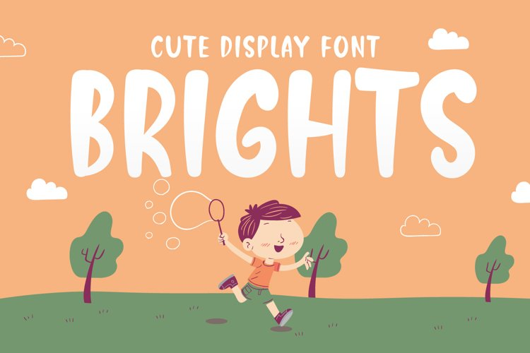 Brights - Cute Display Font example image 1