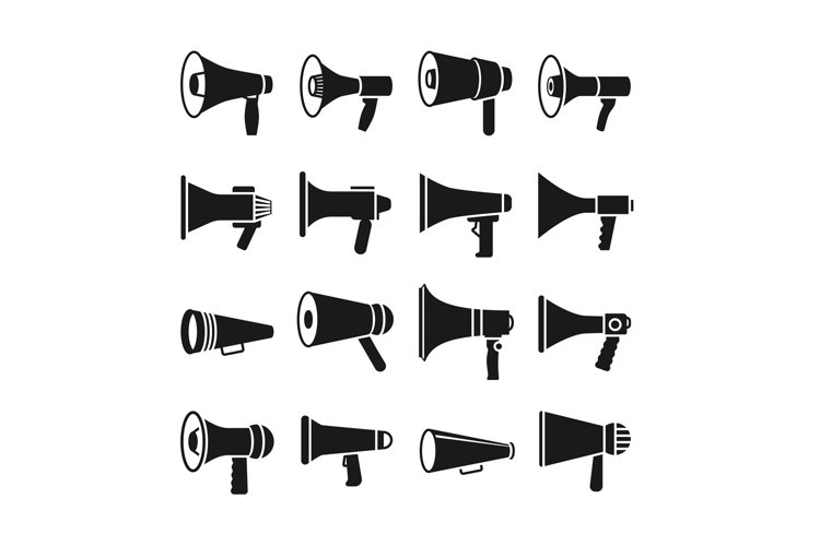 megaphone announcement loudspeaker vector icons 798285 illustrations design bundles design bundles