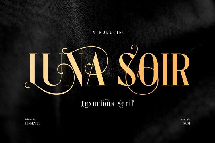 LUNA SOIR - Elegant Typeface example image 1