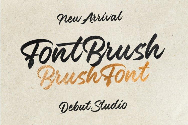 Font Brush - Brush Font example image 1