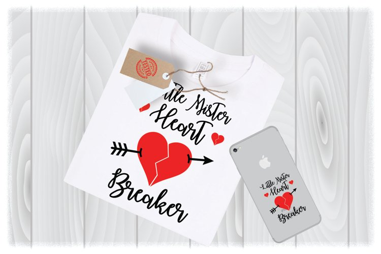 Little Mister Heart Breaker SVG Files for Cricut Designs example image 1