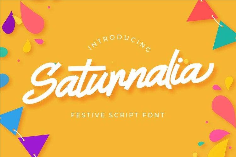 Saturnalia - Festive Script Font