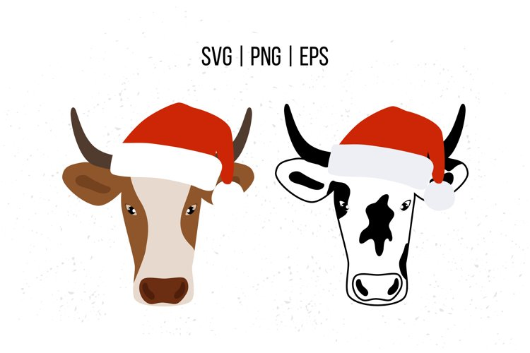 Christmas Ox SVG, Bull SVG, Cow SVG example image 1