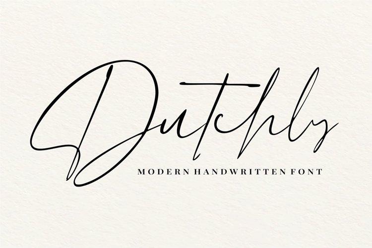 Dutchly - Modern Handwritten example image 1